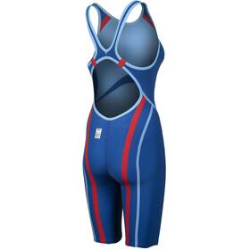 arena Powerskin Carbon Core FX Full Body Short Leg Open Back Swimsuit Women ocean blue